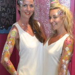 Kiss My fairy glitter unicorn rainbow design body paint zoo project
