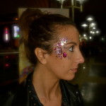 Kiss My Fairy chunky glitter eye and bejewelled design