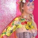 flower print body paint ibiza cosmetic grade chunky glitter Pacha