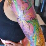 flower print body paint ibiza cosmetic grade chunky glitter
