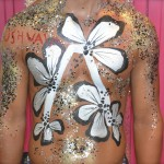 Kiss My Fairy logo body paint Axwell Ushuaia