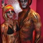 Kiss My Fairy glittery tiger body paint