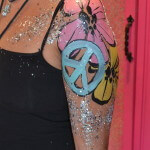 flower power body paint ibiza