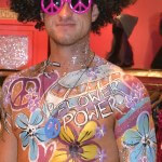 flower print body paint ibiza cosmetic grade chunky glitter flower power Pacha