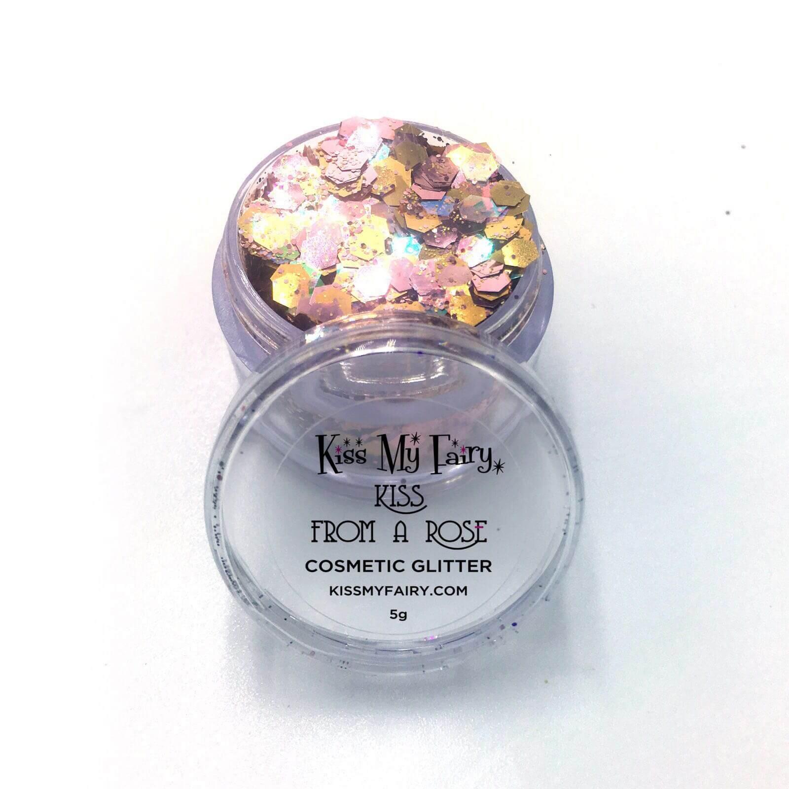 rose gold glitter cosmetic grade chunky glitter