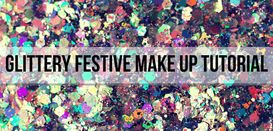 glitter festive make up
