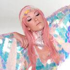 Festival glitter Pale pink cosmetic grade chunky glitter Kiss My Fairy Ibiza UK