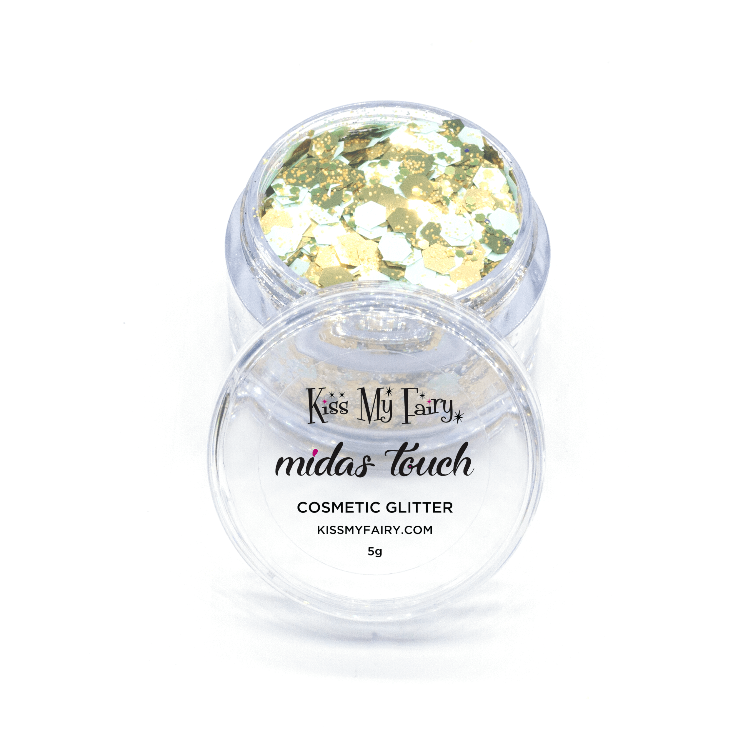 Mint green and gold cosmetic grade chunky glitter mix Kiss My Fairy Ibiza