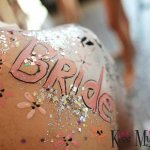 Kiss My fairy glitter bride body paint hen and stag parties