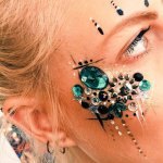 Kiss My Fairy chunky glitter bejewelled eye