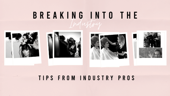a blog with tips on how to get into the hair and make up industry for film and tv